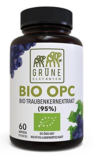 BIO OPC Traubenkernextrakt - Sammen aus Frankreich, 250mg in Glasflaschen, 60 vegane Kapseln - Made in Germany