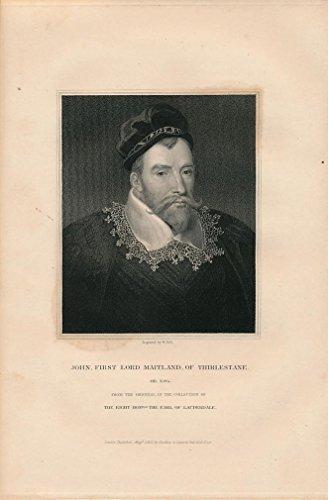 - John Lord Maitland of Thirlestane scarce 1832 antique English Portrait print