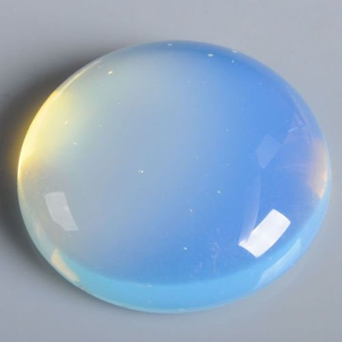 30x30mmOval Cabochon CAB Flatback Semi-precious Gemstone Ring Face (Opalite) ()