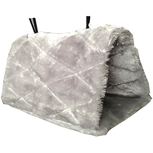 Tinksky Bird Parrot Budgie Nest Shed Fluffy Warm Suspended Hut, Snuggle Hammock Hanging Snuggle Cave Happy Hut Hideaway - Size M - Happy Hut