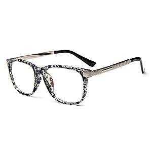 LOMOL Unisex Fashion Classic Retro College Style Transparent Clear Lens Frame Glasses(C3)