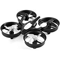 YKS Mini RC Quadcopter RTF Drone 2.4G Remote Control Toys 4CH 6Axis RC Drone RC Helicopters Radio Control Aircraft (H36 Grey 2-batteries)