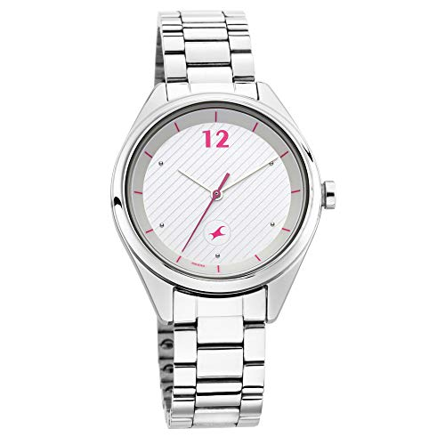 Fastrack Analog Silver Dial Women's Watch 6215SM01