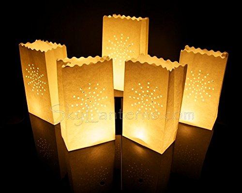 Luminaria - bolsas decorativas para velas - 10 unidades, papel, diseño de fuegos artificiales
