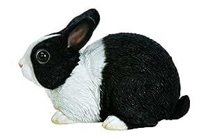Vivid Arts hollow resin sitting Dutch rabbit 15cm