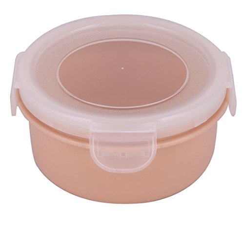 uxcell Plastic Home Round Food Snack Sunflower Seeds Holder Storage Container Box Case Pink