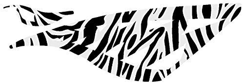 hBARSCI Shark Teeth Vinyl Decal - 5 Inches - for Cars, Trucks, Windows, Laptops, Tablets, Outdoor-Grade 2.5mil Thick Vinyl - Zebra Print