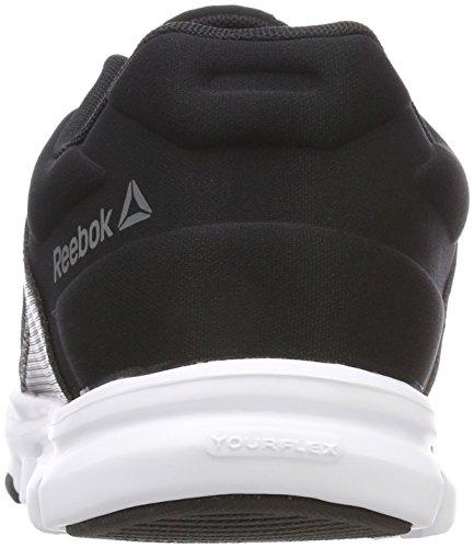 Reebok Blanc Mt noir Hommes Pour Yourflex Alliage Train 000 10 Noir Baskets Sa4Sn