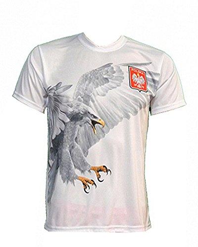 Polska Flying Eagle Athletic Soccer Jersey X-Large (Polish National Soccer Team compare prices)