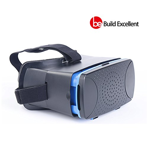 Build Excellent Virtual Reality Headset 3D VR Box with Magnet Trigger Pupil Distance and Focal Length Adjustment Woks with 4.5~6 inch Screen Smartphone Matching iPhone 6 plus Samsung Galaxy (Black) (Panoramic Vision Inc compare prices)