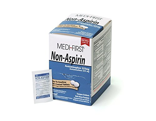 Non Aspirin (Medi-First 80348 Medi-First Non-Aspirin Coated Tablets, 250-Tablets, 125 packets of 2)