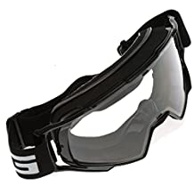 Shiny Black Scooter Motorcycle Goggles Off-Road Motocross Dirt Bikes Sunglasses Riding Eyewear for Skiing Outdoor Sports