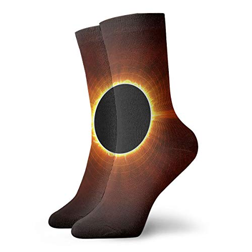 YUANSHAN Socks Solar Eclipse Sun Women & Men Socks Soccer Sock Sport Tube Stockings Length 11.8Inch]()