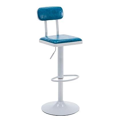 Amazoncom Retro Bar Chair Iron Bar Stool 360 Swivel Adjust Height