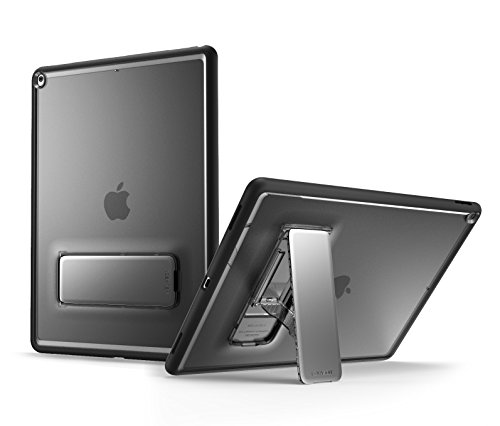 iPad 2017 case, i-Blason [Halo Series] [Kickstand] Premium Slim Hybrid Protective Case for New Apple iPad 9.7 inch 2017 Release (Frost/Black)