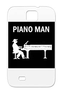 Piano Man TPU Protective Hard Case For Sumsang Galaxy S4 Dirtproof Music Miscellaneous White