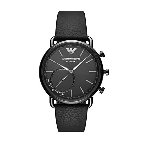 Emporio Armani Men's Stainless Steel Hybrid Smartwatch with Activity Tracking and Smartphone Notifications