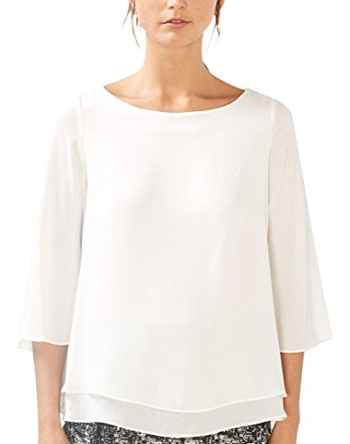 Off ESPRIT White Collection Blanc Blouse Femme rIn7UIz