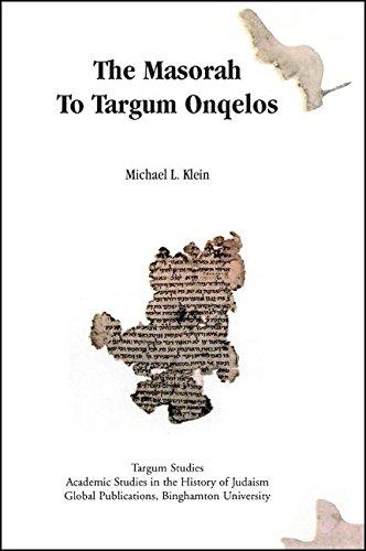 Download The Masorah to Targum Onqelos pdf epub