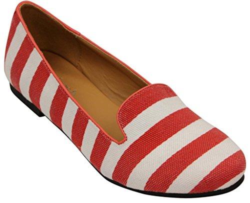 Aggiorna Belin-12 Ballet Loafer-flats Rosso 6.5