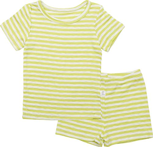 - AVAUMA Pippi Style Newborn Baby Little Boy Girl Stripe Pajamas Summer Short Sleeve Sets Pjs Kids Clothes (L/Lime)