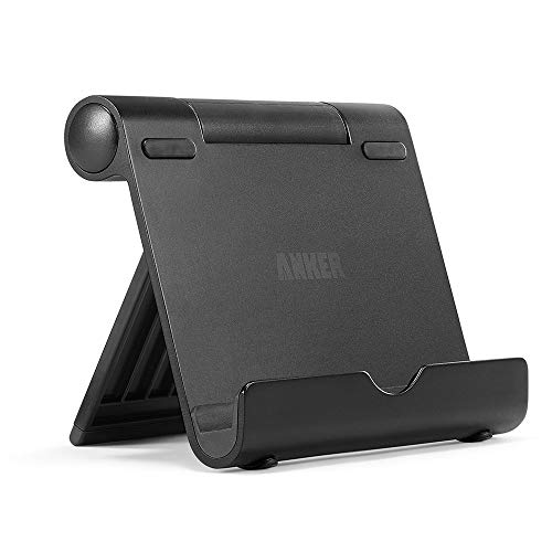 Anker Portable Multi-Angle Stand for Tablets, e-readers and Smartphones, Compatible with iPhone X/8/8 Plus/7/7 Plus, Samsung Galaxy S8/S7/Note 8, iPad Pro 9.7/10.5, Air, mini, Pixel 2 and More (Black)