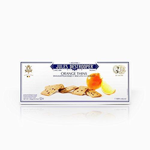 Jules Destrooper, Biscuits, Orange Thins, net weight 100 g (Pack of 1 piece)