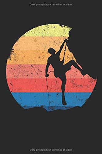 Escalada libre montañismo escaladores: Libreta de regalos ...