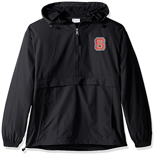 Jacket Nc State Wolfpack - Champion NCAA Men's Half Zip Front Pocket Packable Jacket NC State Wolfpack Large