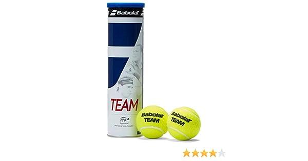 Babolat Team X4 - Pelotas de Tenis (4 Unidades), Color Amarillo