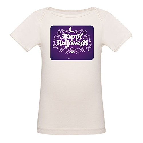 Royal Lion Organic Baby T-Shirt Happy Halloween Bats and Spiders - 3 to 6 Months