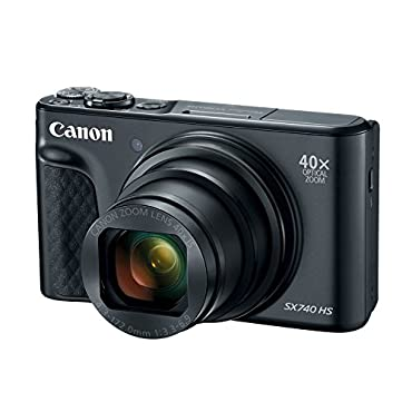 Canon PowerShot SX740 Digital Camera w/40x Optical Zoom & 3 Inch Tilt LCD 4K VIdeo, Wi-Fi, NFC, Bluetooth Enabled (Black)