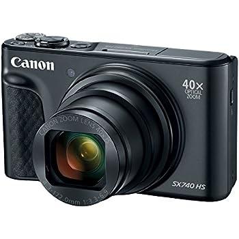 canon powershot sx740 digital camera w40x optical zoom 3 inch tilt lcd 4k video wi fi nfc bluetooth enabled black