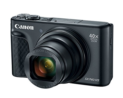 Canon PowerShot SX740 Digital Camera w/40x Optical Zoom & 3 Inch Tilt LCD - 4K VIdeo, Wi-Fi, NFC, Bluetooth Enabled (Black) ()