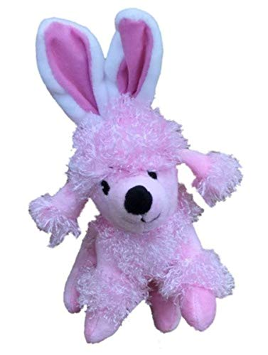 Pink Poodle Fuzzy - Fuzzy Pink French Poodle Dog Stuffed Animal with Easter Bunny Ears 7