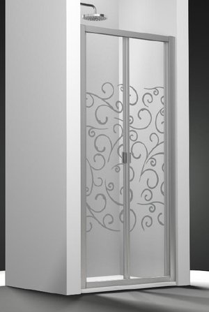 Puerta de ducha plegable Duna cristal Securit transparente Sablé ...