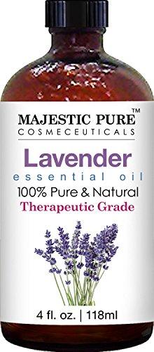Majestic Pure Lavender Essential Oil, Therapeutic Grade, 4 fl. Oz