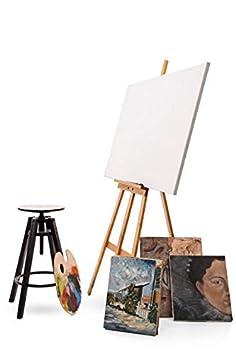 Amazinggirl Cavalletto da Pittura in Legno 180 cm Grande cavalletto per Bambini artisti dipingere massello di faggio Portatile Legno di faggio 2 Pezzi 180 cm