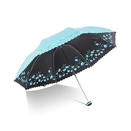Paraguas plegable automatico Mujer niño Hombre an Paraguas Solar de la protección Solar Paraguas Ultra Ligero