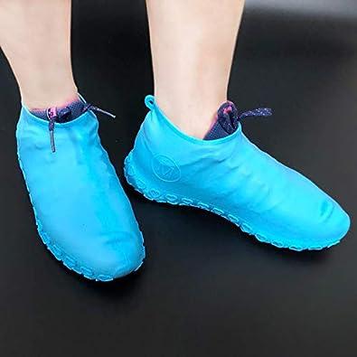 cubierta de goma de silicona para zapatos gruesos para deportes al aire libre antideslizante y resistente al desgaste BEARCOLO Funda de silicona impermeable para zapatos
