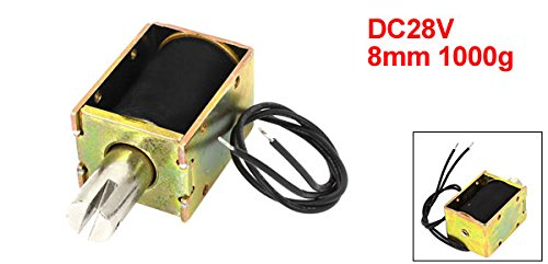 1000 g 1.21 Amp 34.08W 8 mm DC 28V Uxcell a14082600ux0003 Pull Type Electromagnet Solenoid