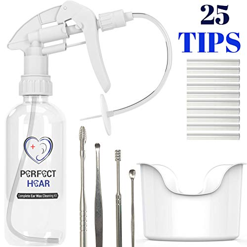 Perfect Hear Earwax Removal Tool Kit. Ear Washer System with Basin and Other Accessories.