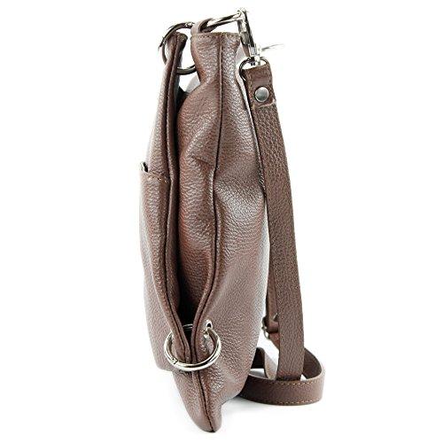 NT07 cuir en de en à Messenger sac 2in1 sac dames cuir bandoulière modamoda ital sac Brown sac HOXYqUq