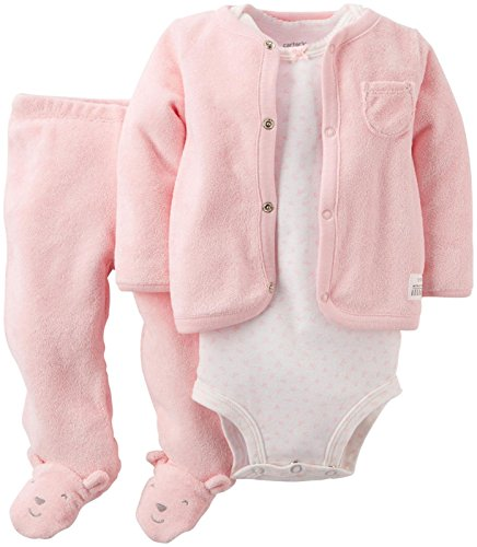 Carters Baby Girls Terry Footed