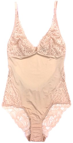 Samantha Chang Women's My Daily Bodysuit - New Lace & New Style (Nude, Small)