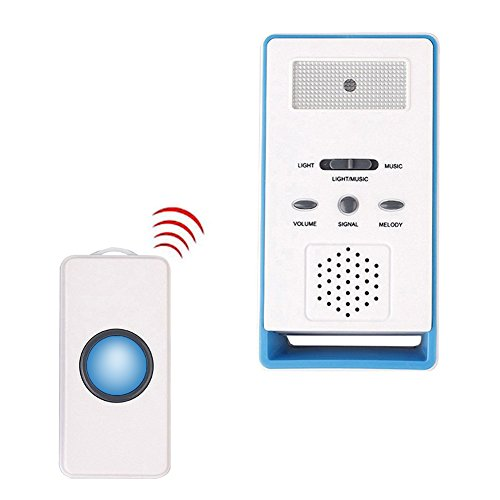 Gentman Wireless Caregiver Personal Pager with One Call Button Home Alarm Alert System for Nurses Seniors Disabled (Wireless Alert Intercom)