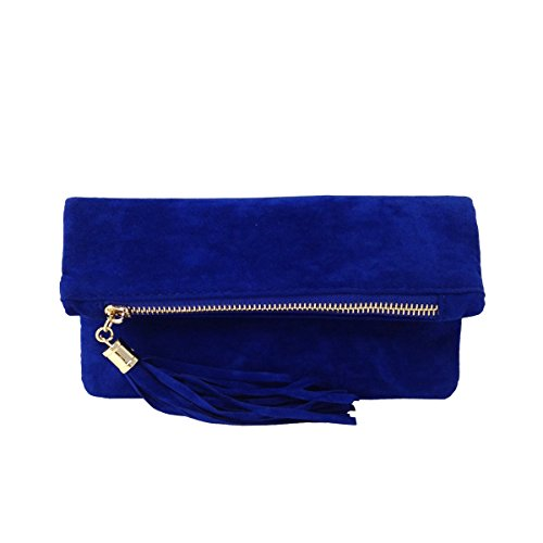 jnb-womens-microsuede-foldover-mini-pouch-royal-blue