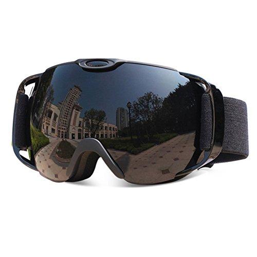 VILISUN Ski Snowboard Goggles, Anti-Fog Windproof 100% UV Protection, Anti-Glare Spherical Dual Lens Design,Anti-Slip Adjustable Strap for Kids Youth Man & Woman Outdoor Skiing Snowmobile - Protection Category 3 Sunglasses Uv