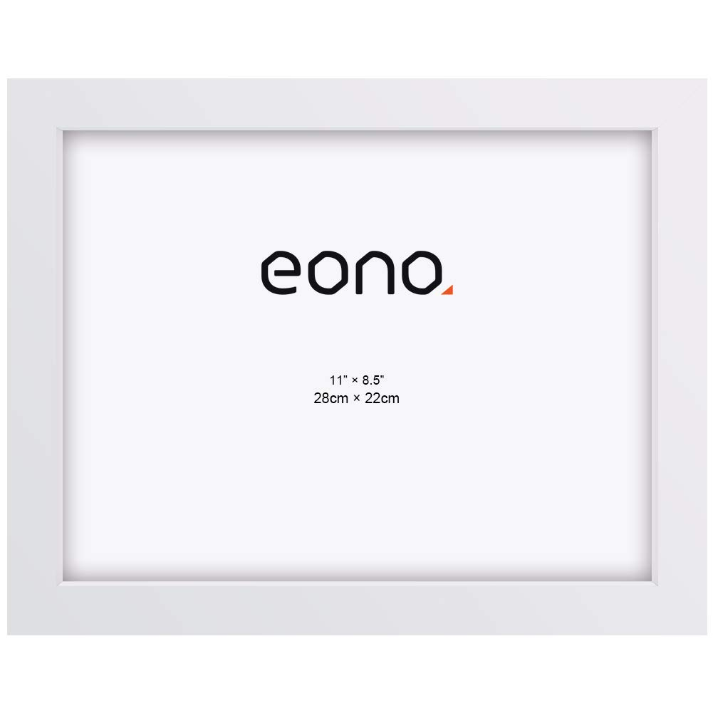 Eono by Juego de 2 Marcos de Fotos de Madera Maciza y Cristal de alta Definici/ón Para pared o Sobremesa 9x13 cm Blanco