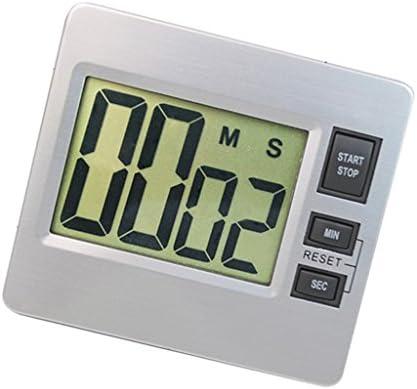 Baoblaze LCD Reloj Temporizador Digital, Pantalla de 24H 2.17x1.57 Pulgadas - Plata 2